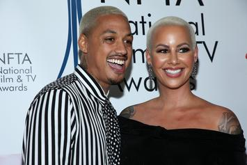 """Amber Rose Blinds Fans With Blinged Out """"Bussdown"""" Watch From Boyfriend"""