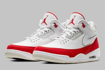 "Air Jordan 3 Tinker ""University Red"" First Look At Velcro Swooshes"