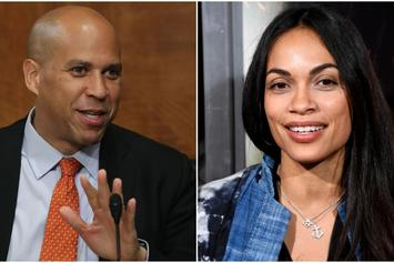 "Cory Booker Talks Girlfriend Rosario Dawson: She's An ""Incredible Human Being"""