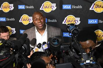 """Magic Johnson's Wife Says He Has """"No Regrets"""" About Leaving Lakers"""