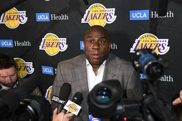 """Magic Johnson Is Still Working """"Internally"""" With The Lakers, Despite Stepping Down"""
