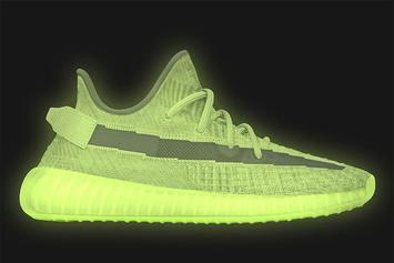 """Adidas Yeezy Boost 350 V2 """"Glow"""" Release Date Confirmed: On-Foot Photos"""