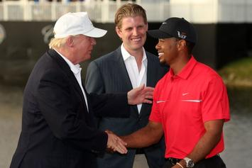 Tiger Woods, President Trump Celebrating Masters Victory At White House