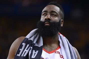 James Harden's Eyes Are Still Brutally Bloodshot As Game 3 Approaches