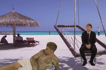"Justin Bieber & Ed Sheeran's ""I Don't Care"" Video Is A Really Good Green Screen Montage"