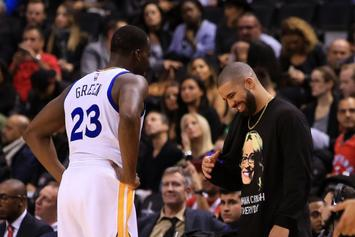 "Drake & Draymond Green Reportedly ""Hashed It Out"" Over Drinks After Game 1 Scuffle"