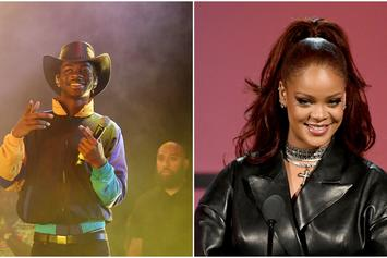 """Lil Nas X Poses With Rihanna At The 2019 BET Awards: """"Star Struck"""""""