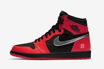 "Air Jordan 1 High OG ""Black/Red"" With Silver Swoosh Rumored For 2020"