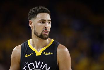 Klay Thompson Spotted At Dodgers Game With Ex-GF Laura Harrier