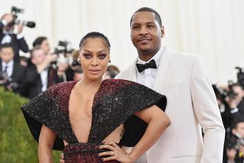 Carmelo Anthony And La La Reunite For Son Kiyan's Basketball Game