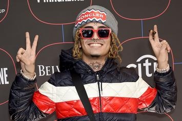 Lil Pump Defends LeBron James After Courtside Antics & Shouts Out Carmelo Anthony