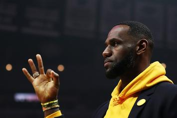 LeBron James Unveils Colorful Court At I Promise School, Hoops Against Students