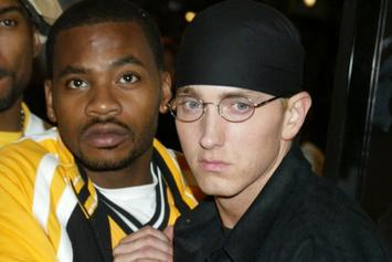 "Eminem, Obie Trice, & Sway Chill In ""Cheers""-Era Throwback Pic"