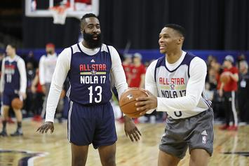 James Harden, Russell Westbrook Put The Gloves On For UFC Workout: Watch