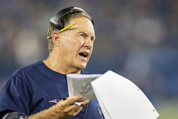 Bill Belichick Gives Reporter Death Stare After Antonio Brown Question
