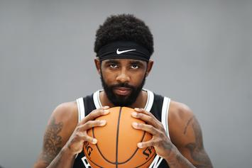 Kyrie Irving Debuts Face Mask In Practice Following Facial Fracture: Watch