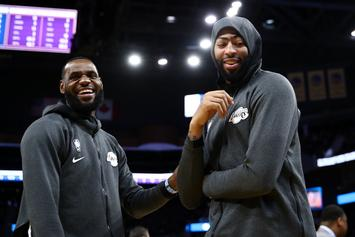 "LeBron James Compares Anthony Davis To Miami Heat ""Big 3:"" Watch"