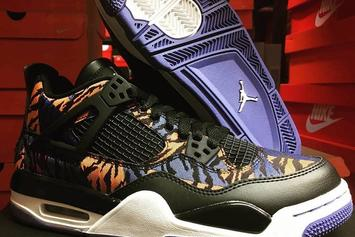 "Air Jordan 4 Rumored To Release In Exotic ""Tiger Camo"" Colorway: First Look"