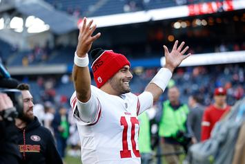 49ers' Jimmy Garoppolo Sends Twitter Into A Frenzy After Calling Erin Andrews 'Baby'
