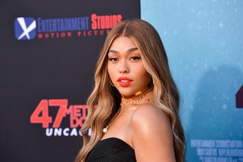 Jordyn Woods Throws Prayers Up In Front Of Nipsey Hussle Mural