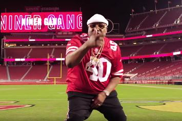 "E-40 Reps San Francisco 49ers In Passionate Homage ""Niner Gang"""