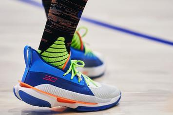 """Steph Curry's Under Armour Curry 7 Unveiled In """"Super Soaker"""" Colorway"""