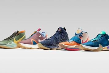 """Nike Basketball Unveils LeBron, Kyrie & Giannis """"BHM"""" PEs: First Look"""