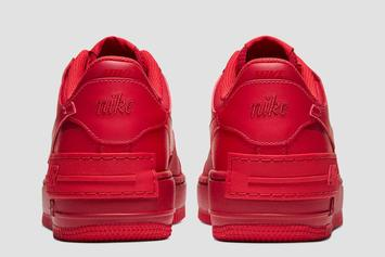 """Nike Air Force 1 Low Receives """"Red October"""" Makeover: Official Photos"""