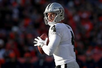 Derek Carr Puts Critics On Blast For Saying His Stats Are Inflated