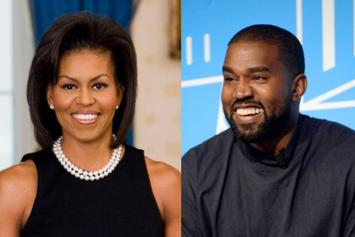 Michelle Obama Accused Of Sending Subliminal Shots To Kanye West During Speech