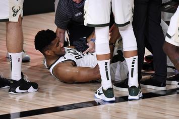 Giannis Antetokounmpo Injures Ankle, Will Not Return To Game 4