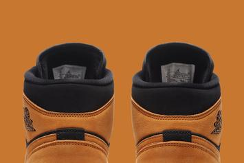 "Air Jordan 1 Mid Gets ""Wheat"" Rendition: Photos"