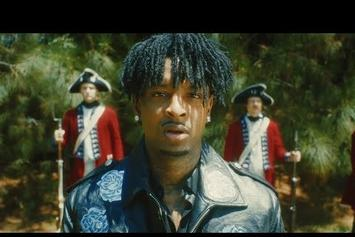 "21 Savage Pulls Up With The Redcoats For ""My Dawg"" Video"