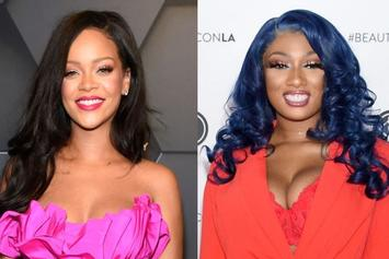 Rihanna & Megan Thee Stallion Are Icy Blue For Sexy Savage x Fenty Campaign