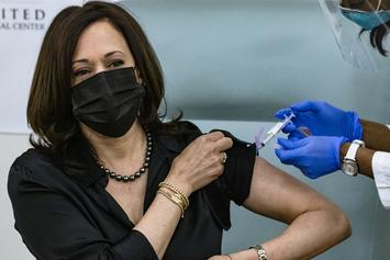 Kamala Harris Receives Coronavirus Vaccination