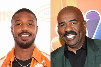 Chris Brown Teases That Michael B. Jordan & Steve Harvey Look Like One Another