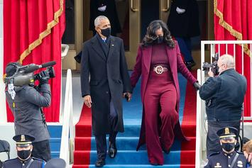 Michelle Obama's Plum Suit Steals The Show Inauguration Day