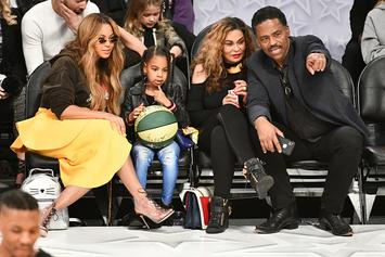 Blue Ivy Impressively Does Tina Knowles' Makeup