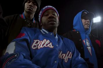 "Benny The Butcher Reps The Buffalo Bills In ""Trade It All"" Visual"