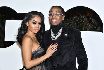 Quavo & Saweetie Get Into A Physical Fight In Elevator Video