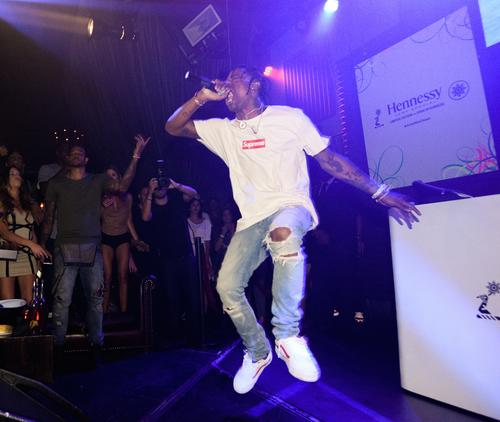 Travi$ Scott performs.