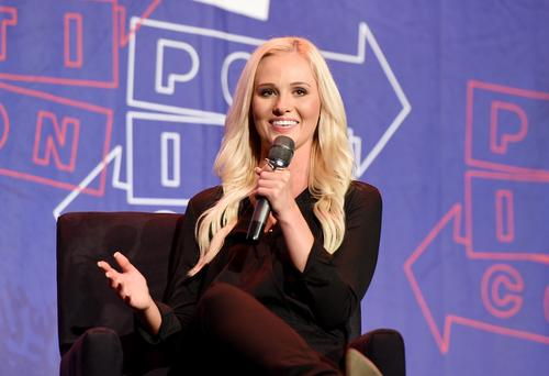 Tomi Lahren at 'Chelsea Handler in Conversation with Tomi Lahren' panel during Politicon at Pasadena Convention Center on July 29, 2017 in Pasadena, California