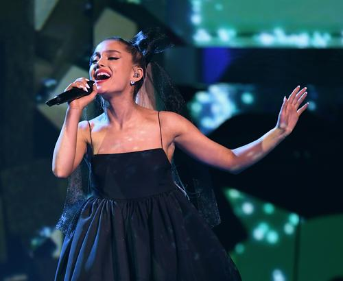 Ariana Grande performs at the 2018 Billboard Music Awards at the MGM Grand Garden Arena on May 20, 2018 in Las Vegas, Nevada