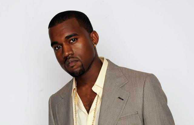Kanye West at studio photo shoot