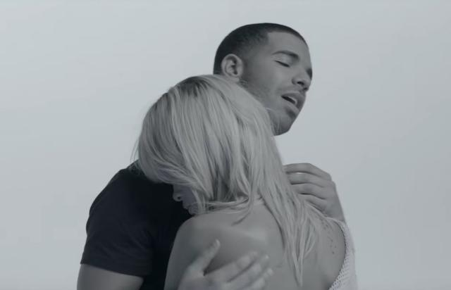 "Drake and Rihanna in the ""Take Care"" music video"