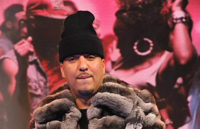 French Montana rocking a fur jacket