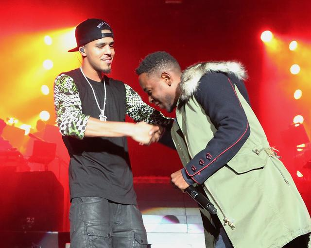 J. Cole and Kendrick live on stage