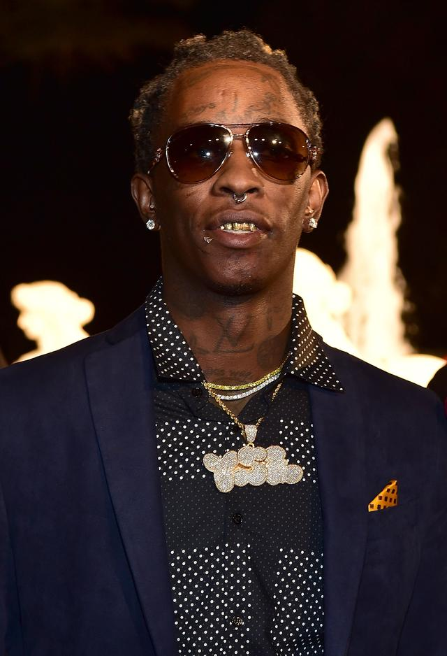 Young Thug at rick ross' birthday party