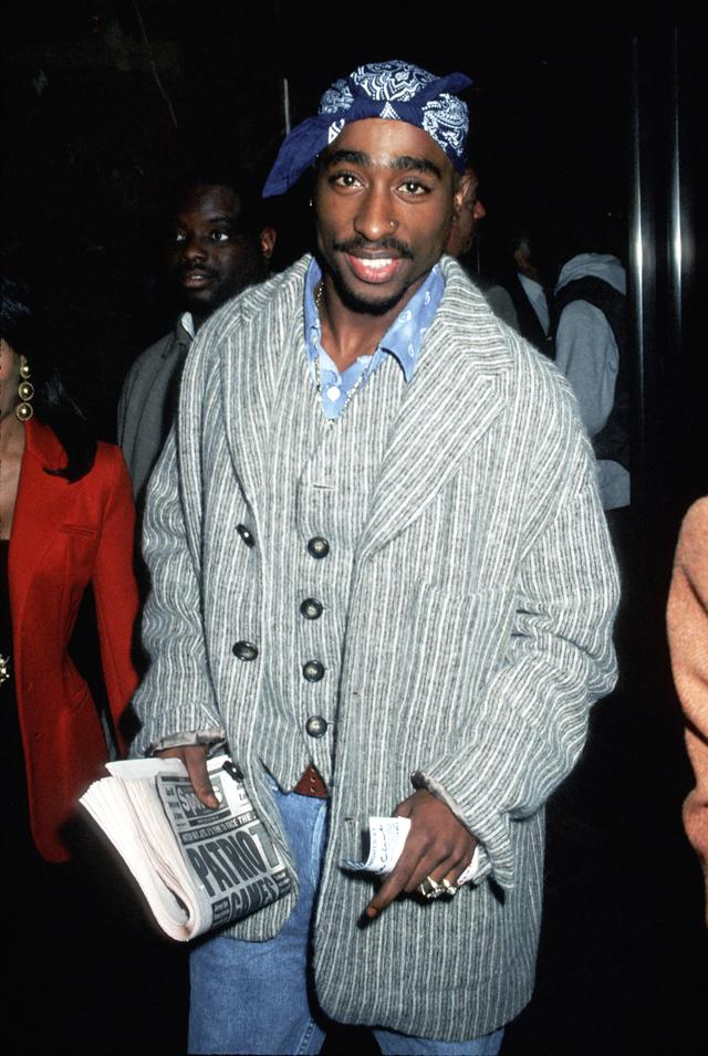 Tupac at a movie premiere