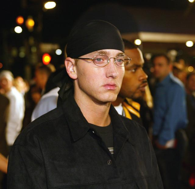 Eminem at the 8 Mile premiere